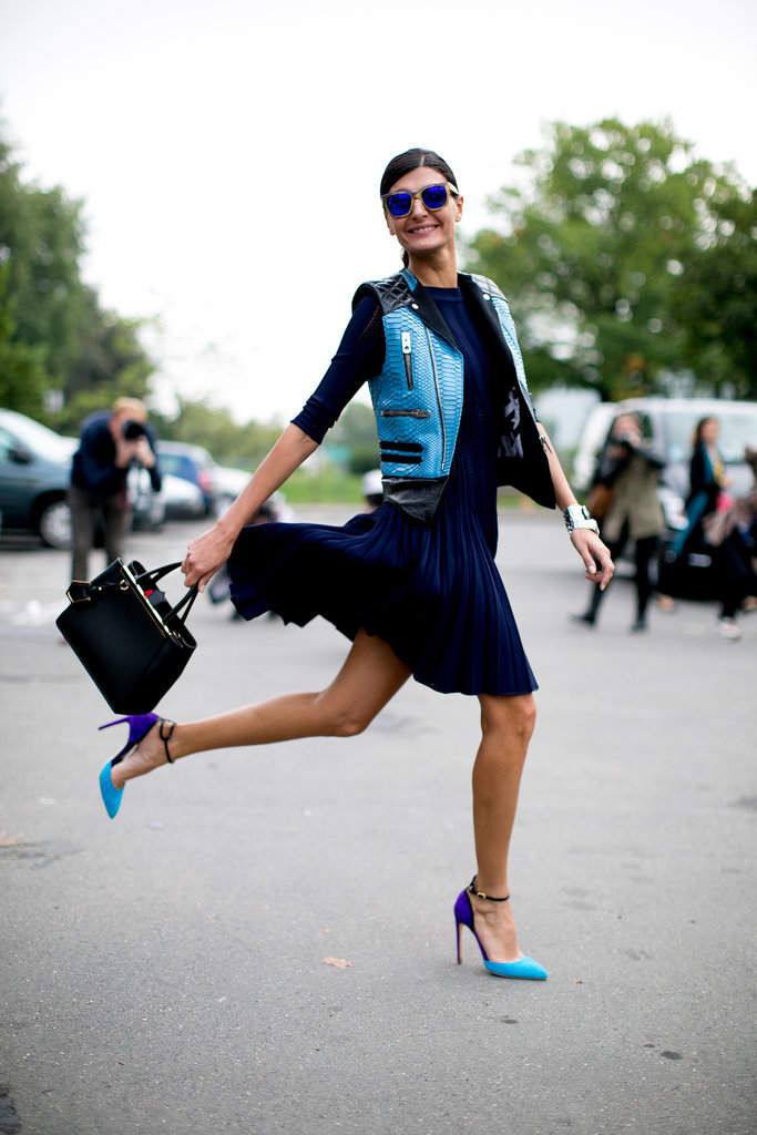 Giovanna Battaglia. Royal Blue Romantic Styling. Vincent Grillo.