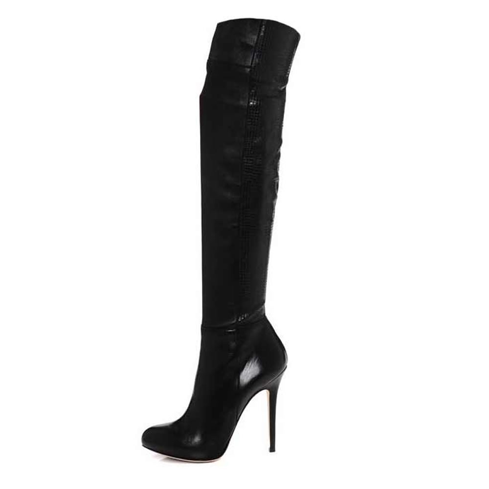 Lepora Knee Nappa Stretch Leather Boot