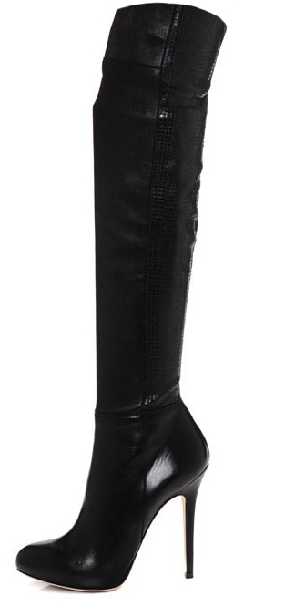 Lepora. Stretch nappa leather knee high boot. Timeless classic boot with a subtle edge of uniqueness.