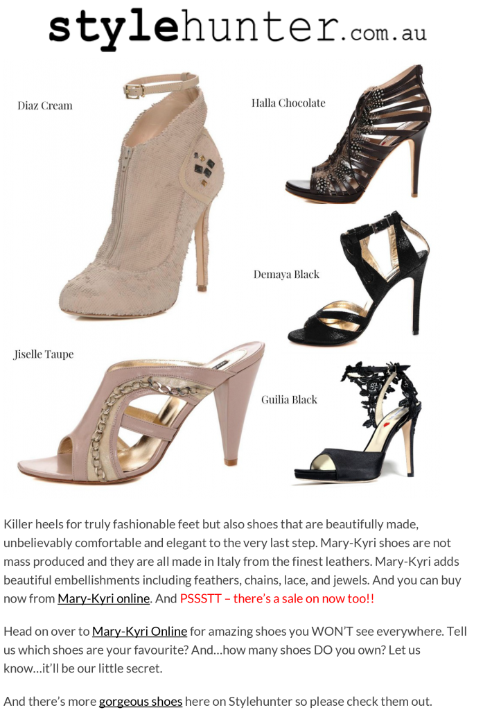 Style Hunter.com.au Features Mary-Kyri Shoes