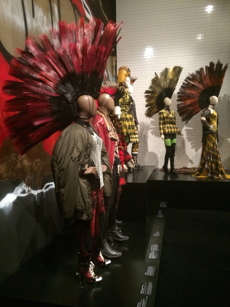 Displays of Jean Paul Gaultier's Designs Reflecting Pop Culture