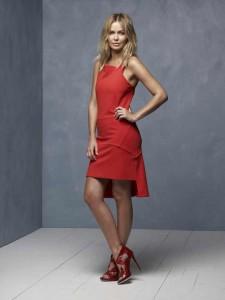 "Lara Bingle wearing Mary-Kyri ""Cypria"" Design"