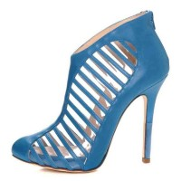 Zoa Nappa leather Bootie with PVC and Strap Detailing