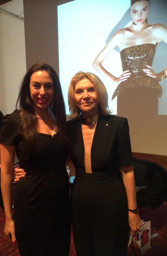 Australian Fashion Designers Mary-Kyri and Carla Zampatti