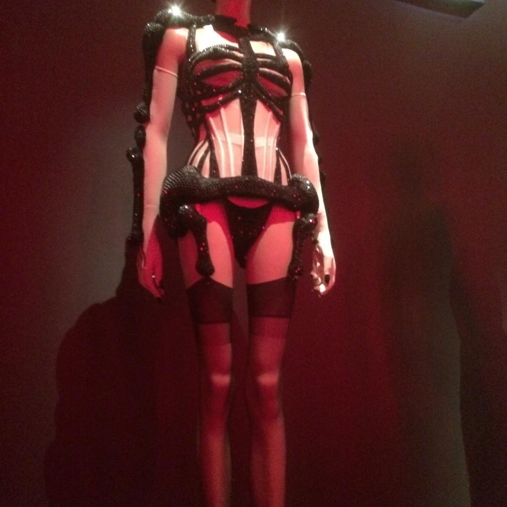 Jewelled Cutaway Corset and Suspenders