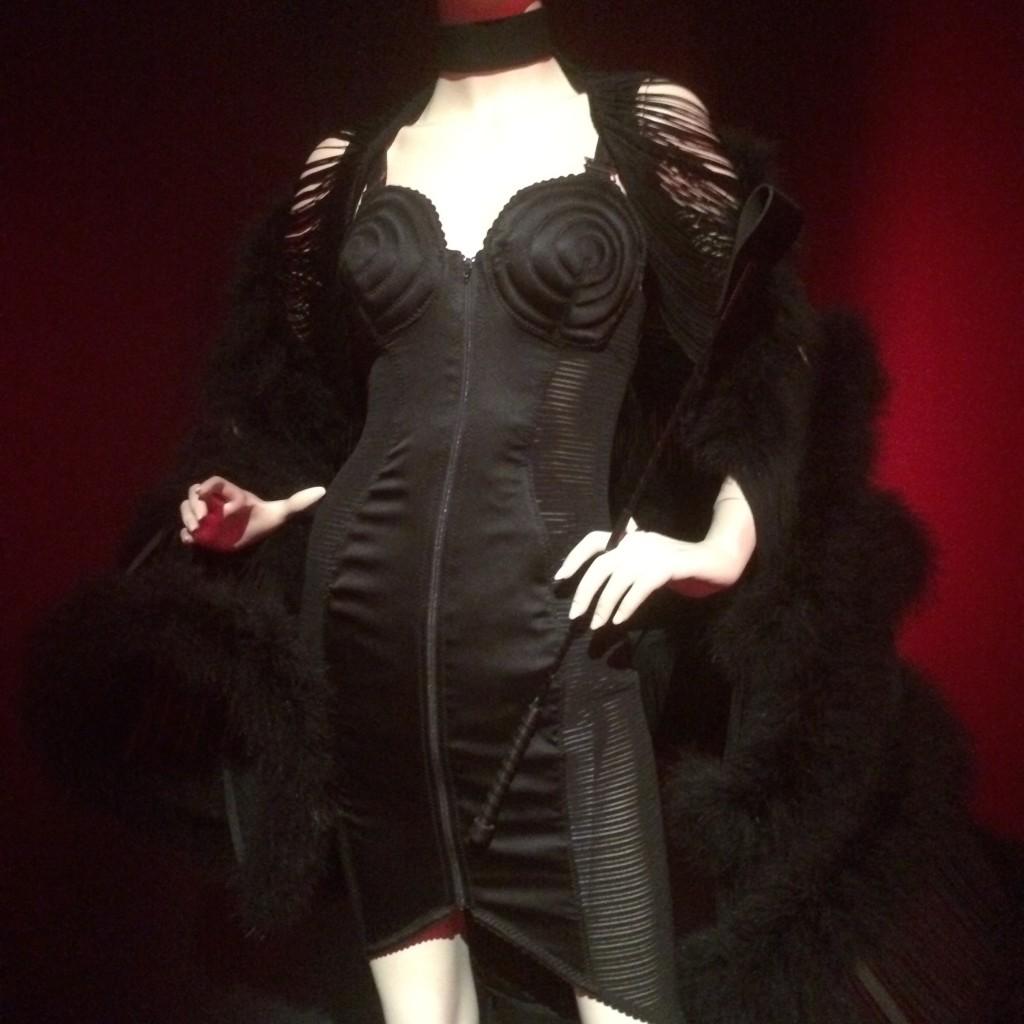 Zip Front Cone Bra Dress